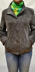 натуральная замшевая женская куртка